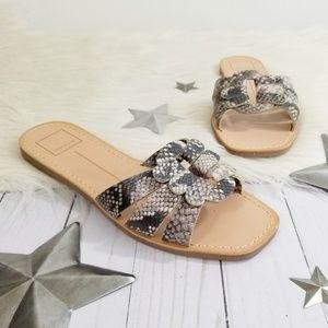 Dolce Vita Chantel sandals snakeskin print gray 8